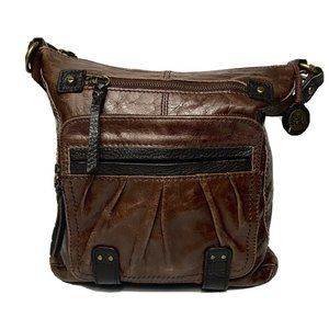 The Sak Chocolate Brown Leather Crossbody Bag